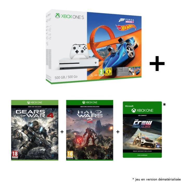 pack xbox one s 500 go forza horizon 3 hotwheels gears gamingpascher. Black Bedroom Furniture Sets. Home Design Ideas