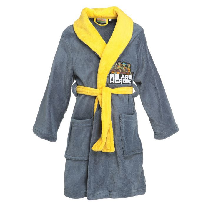 tortue ninja robe de chambre enfant gar on achat vente pyjama chemise de nuit tortue robe. Black Bedroom Furniture Sets. Home Design Ideas