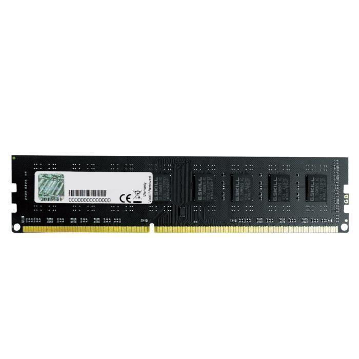 MÉMOIRE RAM G.Skill Mémoire PC Value - DDR3 - 4Go - 1600 MHz -