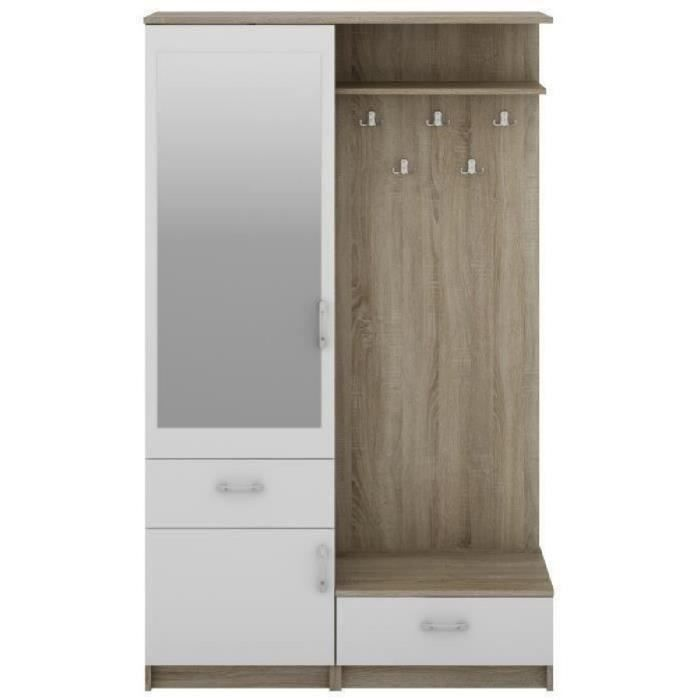 d entree vestiaire 120cm achat vente d entree vestiaire 120cm pas cher cdiscount. Black Bedroom Furniture Sets. Home Design Ideas