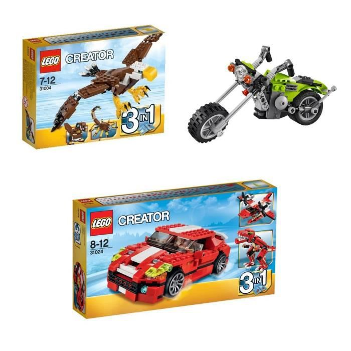lego creator pack voiture moto rapace achat vente assemblage construction cdiscount. Black Bedroom Furniture Sets. Home Design Ideas