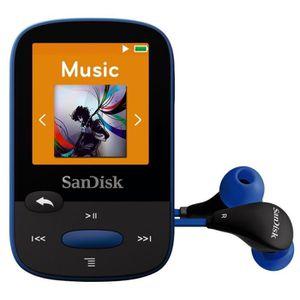 LECTEUR MP3 SanDisk Clip Sport 8 Go Bleu Lecteur MP3