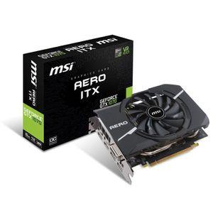 CARTE GRAPHIQUE INTERNE MSI Carte graphique GeForce® GTX 1070 AERO ITX 8G