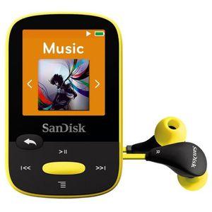 LECTEUR MP3 SanDisk Clip Sport 8 Go Jaune Lecteur MP3