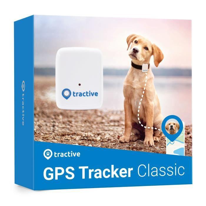 TRACTIVE Traceur GPS chien Collier gps chien Léger et étanche avec porté illimitée