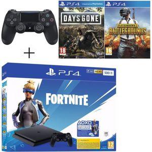 CONSOLE PS4 Pack Playstation : PS4 Slim 500Go Noire + Manette