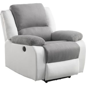 FAUTEUIL RELAX Fauteuil relaxation Electrique - Simili Blan