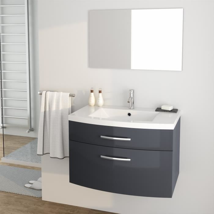 meuble salle de bain 80 cm achat vente pas cher. Black Bedroom Furniture Sets. Home Design Ideas