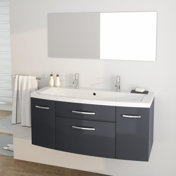 meuble de salle de bain 1 vasque 2 robinet achat vente pas cher. Black Bedroom Furniture Sets. Home Design Ideas