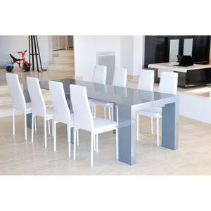CONSOLE EXTENSIBLE ZACK Table console extensible 250cm laquée gris