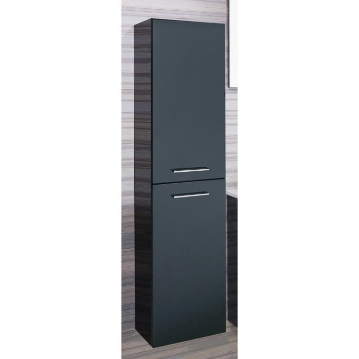 shiloh colonne de salle de bain 30 cm laqu gris achat vente colonne armoire sdb shiloh. Black Bedroom Furniture Sets. Home Design Ideas