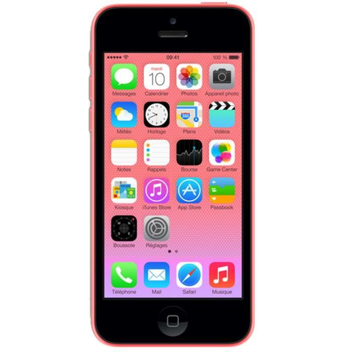 apple iphone 5c 32 go rose 4g achat smartphone pas cher. Black Bedroom Furniture Sets. Home Design Ideas