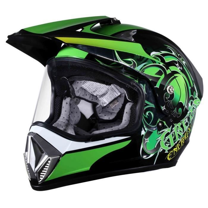 eole casque cross green avec visi re achat vente casque moto scooter eole casque cross green. Black Bedroom Furniture Sets. Home Design Ideas