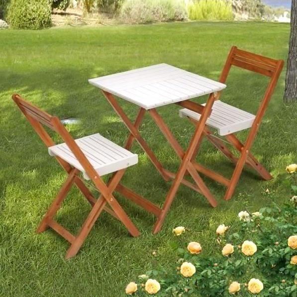 Table salon de jardin carre