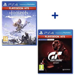 JEU PS4 Pack 2 Jeux PS4 PlayStation Hits : Horizon Zero Da