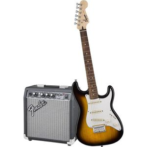 PACK INSTRUMENTS CORDES SQUIER by FENDER Pack guitare électrique junior su