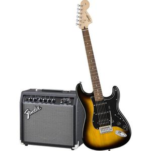 PACK INSTRUMENTS CORDES SQUIER by FENDER Pack guitare électrique 4/4 sunbu