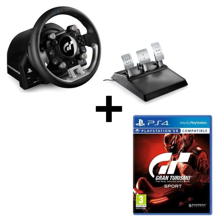 pack thrustmaster volant et p dalier t gt version eu jeu gran turismo sport ps4 vr achat. Black Bedroom Furniture Sets. Home Design Ideas
