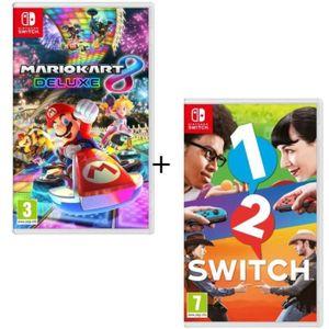 JEU NINTENDO SWITCH Pack 2 jeux Switch : Mario Kart 8 Deluxe + 1-2-Swi