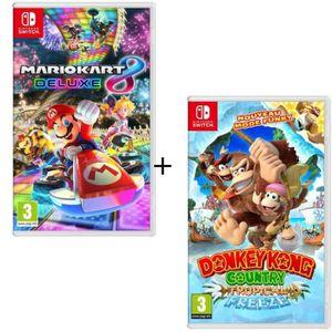 JEU NINTENDO SWITCH Pack 2 jeux Switch : Mario Kart 8 Deluxe + Donkey