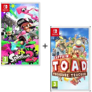 JEU NINTENDO SWITCH Pack 2 jeux Switch : Splatoon 2 + Captain Toad : T