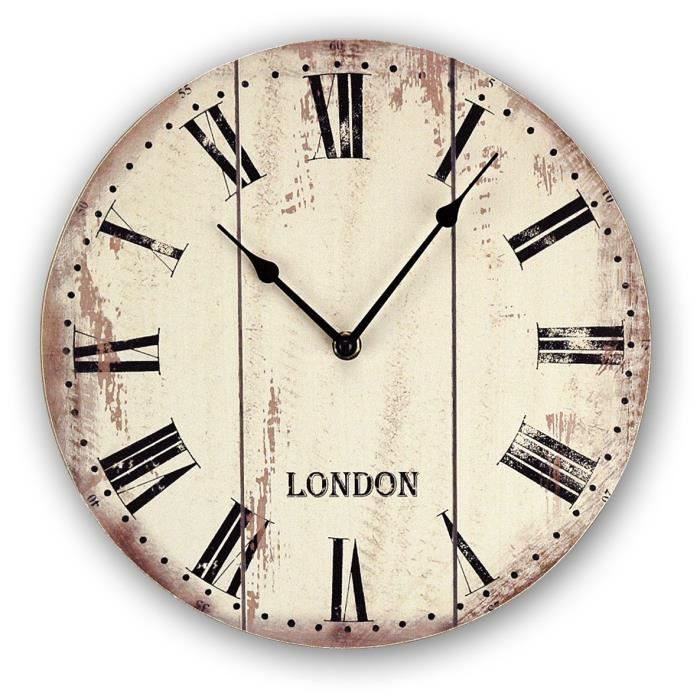 Laval horloge murale d co 28cm achat vente horloge for Decoration maison laval