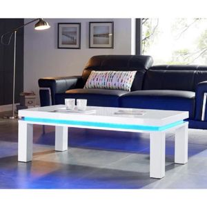 Table basse led achat vente table basse led pas cher cdiscount - Table basse avec led ...