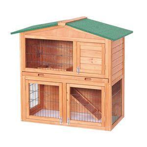 CLAPIER Clapier pour lapins en bois 100 x 54,7 x 99,6 cm