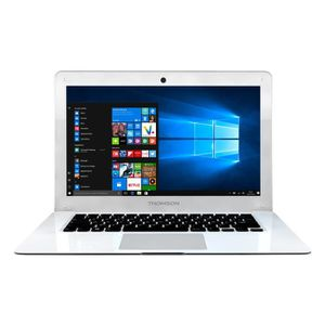 Vente PC Portable THOMSON PC portable NEO14A - 14,1'' HD - 1Go RAM - Intel® Atom™ - 32Go eMMC - 1366x768pxl TN - Windows 10 - WiFi/Bluetooth - Blanc pas cher