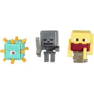 FIGURINE - PERSONNAGE MINECRAFT Action Figure Pack 3 figurines Bleu, Gri