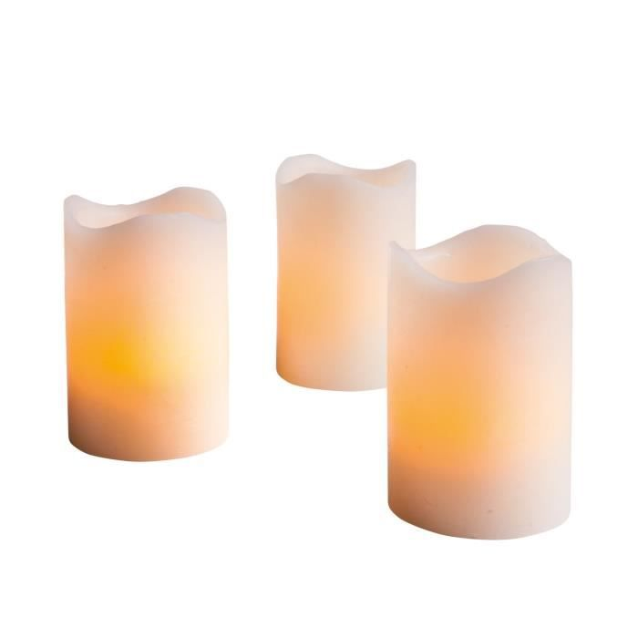 lot de 3 bougies led en cire achat vente lot de 3 bougies led en cire parafine cdiscount. Black Bedroom Furniture Sets. Home Design Ideas