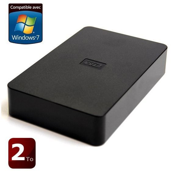 DISQUE DUR EXTERNE Western Digital Elements 2000 Go noir 3.5""