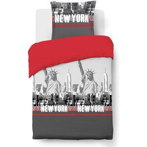 HOUSSE DE COUETTE ET TAIES VISION Parure de couette New York - 100% coton - 1