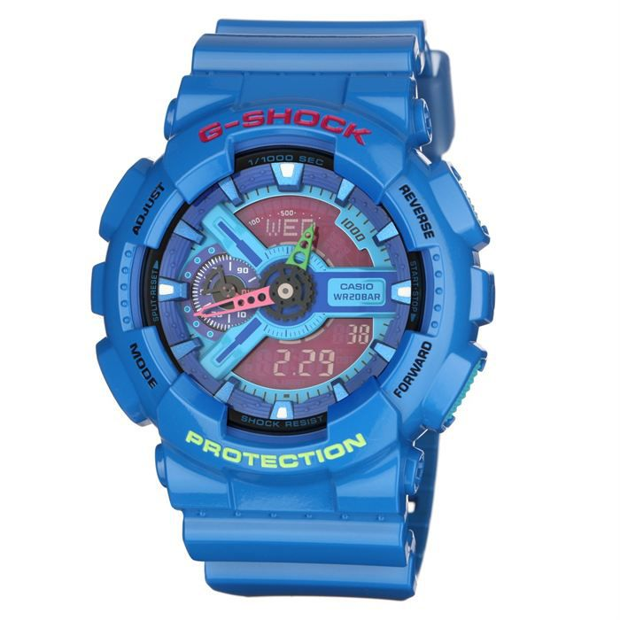 casio montre multifonction g shock bleu rouge achat vente montre cdiscount. Black Bedroom Furniture Sets. Home Design Ideas