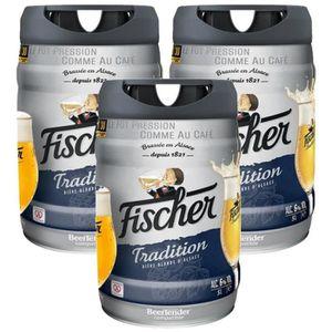 BIÈRE 2 achetés + 1 offert - Fischer Tradition - Fût 5L