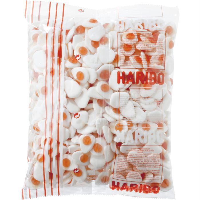 CONFISERIE DE SUCRE HARIBO Oeufs au plat 1.5 Kilos (x1)