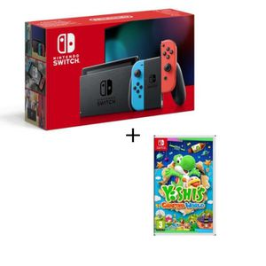 CONSOLE NINTENDO SWITCH Pack Nintendo Switch Néon + Yoshi's : Crafted Worl