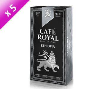 CAFÉ Lot de 50 capsules Café Royal Origine Ethiopie Cap