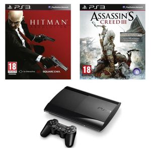 "CONSOLE PS3 ""Pack PS3 12Go Slim+Hitman+Assassin's Creed 3"""