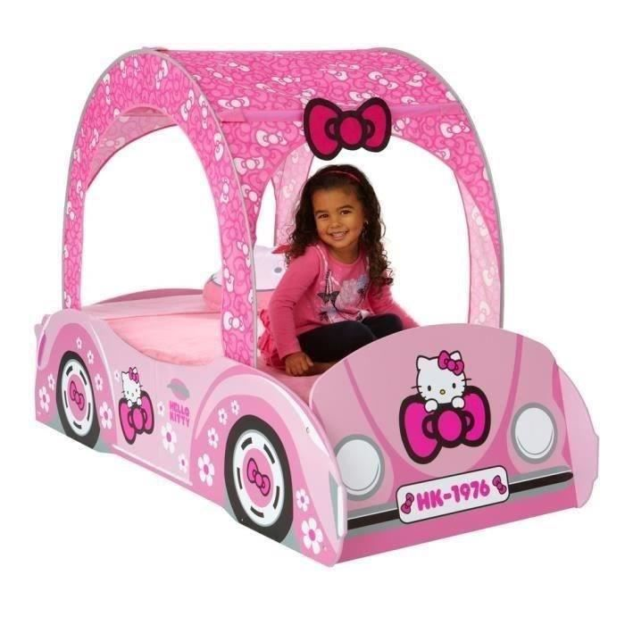 hello kitty lit enfant voiture 70 x 140 cm achat vente structure de lit cdiscount. Black Bedroom Furniture Sets. Home Design Ideas