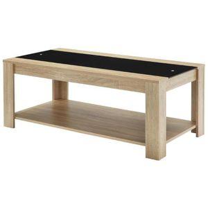 TABLE BASSE DAMIA Table basse style contemporain décor chêne e