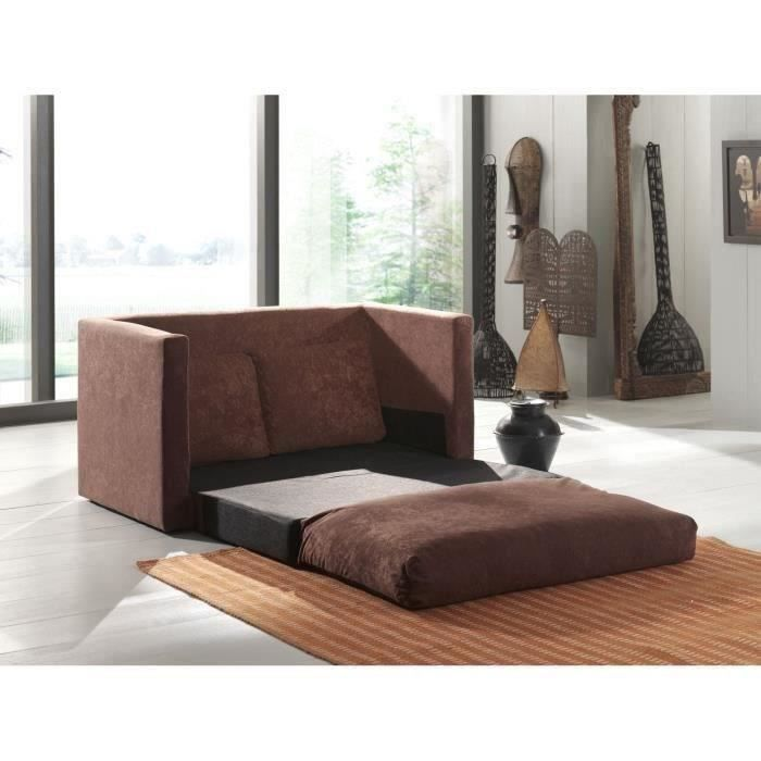 smouss canap d plimousse en microfibre chocolat achat vente canap sofa divan bois. Black Bedroom Furniture Sets. Home Design Ideas
