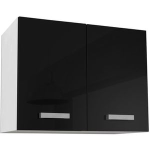 ÉLÉMENTS HAUT START Meuble haut de cuisine - L 80 cm - Noir Bril