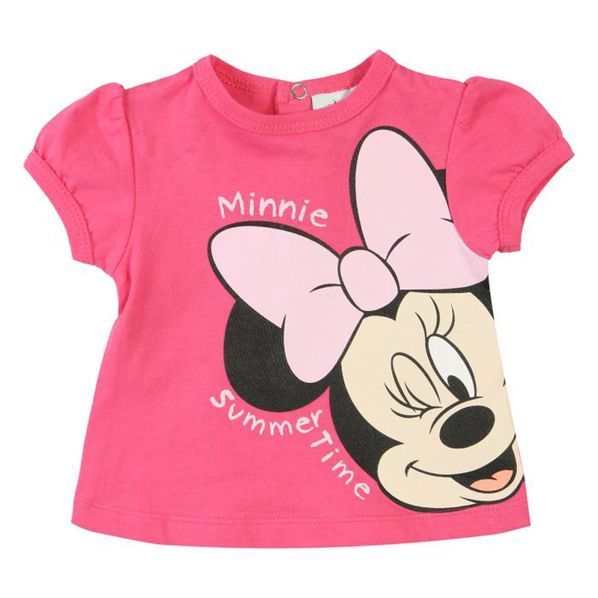 minnie t shirt b b fille fuschia achat vente t shirt cdiscount. Black Bedroom Furniture Sets. Home Design Ideas