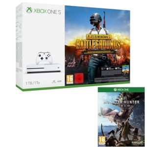 CONSOLE XBOX ONE Xbox One S 1 To PUBG + Monster Hunter World