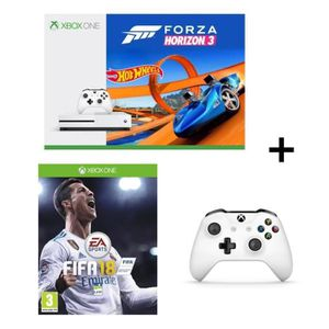 pack xbox one s forza horizon 3 hotwheels manette sans fil fifa 18 achat vente console. Black Bedroom Furniture Sets. Home Design Ideas