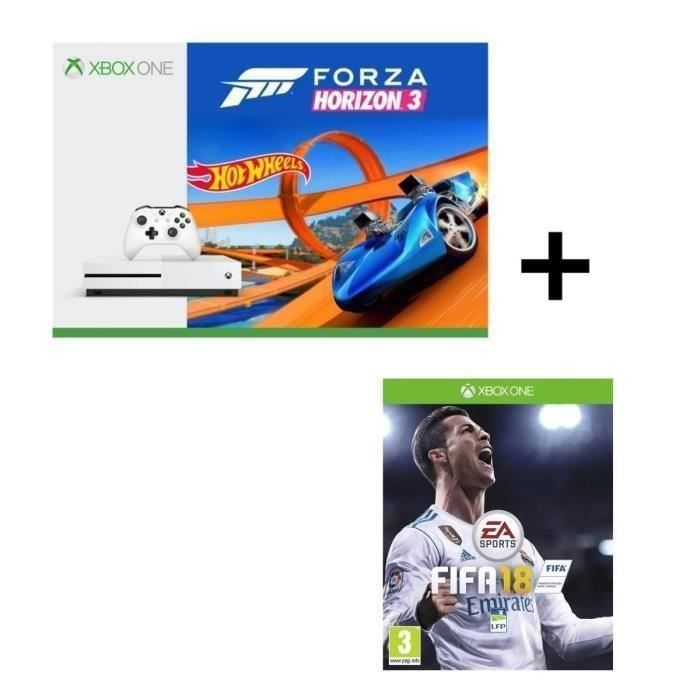 pack xbox one s forza horizon 3 hot wheels fifa 18 microsoft gamingpascher. Black Bedroom Furniture Sets. Home Design Ideas