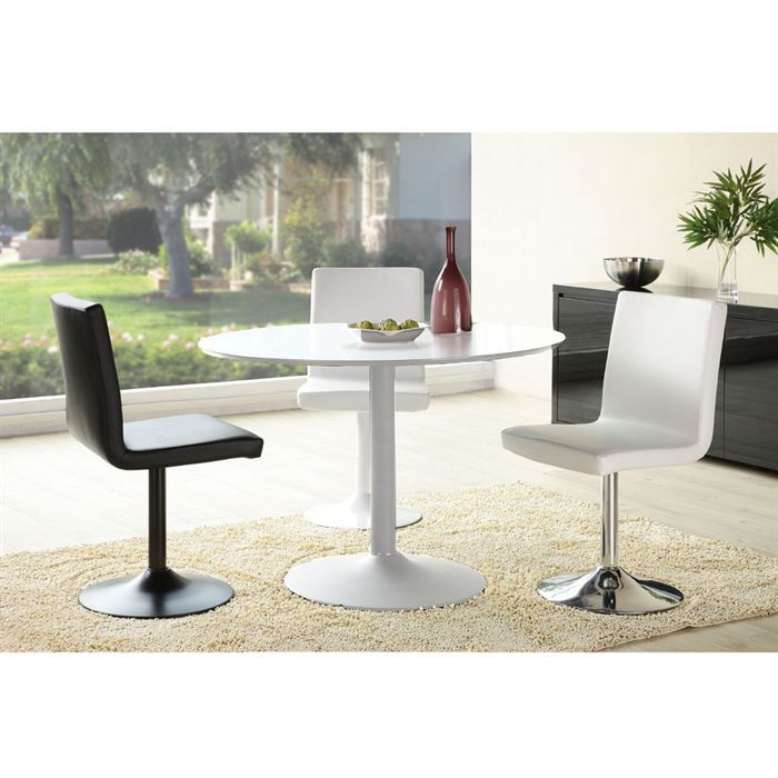 You table de s jour ronde blanche achat vente table for Table salle a manger ronde blanche
