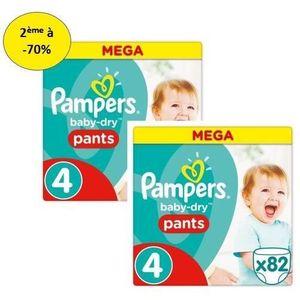 COUCHE PAMPERS Baby Dry Pants Mega T4 X82 – Lot de 2 – 2e