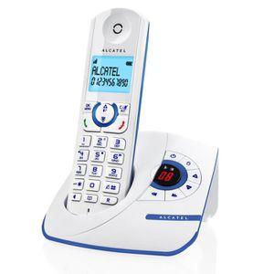 Téléphone fixe Alcatel F390 Solo Téléphone Sans Fil Répondeur Bla